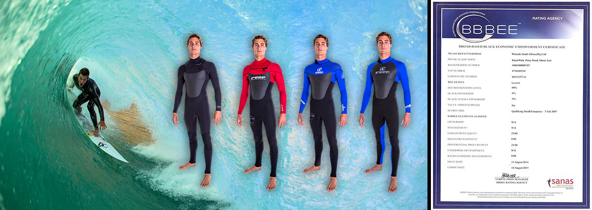 About Reef Wetsuits South Africa